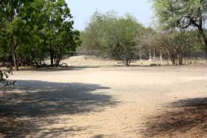 The fields around the camp