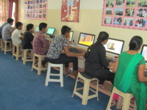 Youth practicing their skills new on the Computers