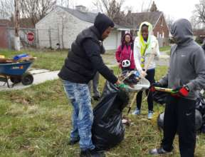 TYC Youth Osborn Neighborhood Clean-Up