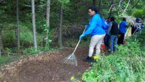 Trail Maintenance at Wilderness State Park.
