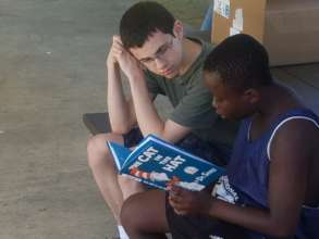 Reading with a volunteer