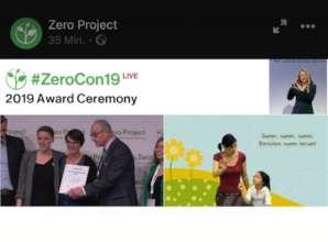 Zero Project award ceremony (credit: zero project)
