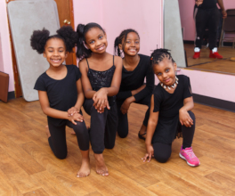 Younger girls are anxious to perform
