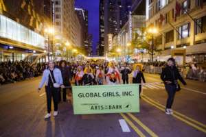 Arts in the Dark parade, downtown Chiccago