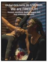 Global Girls 20th Anniversary flyer