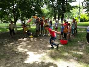 Water team-games in summer