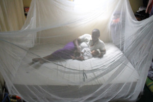 Safe under the mosquito bed net