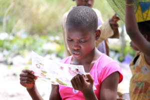 Reading a malaria information flier
