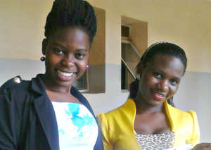 Winfred and Benadet, the GWI student teachers