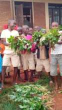 Students with their harvest
