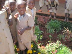 Students at Mugutu primary school