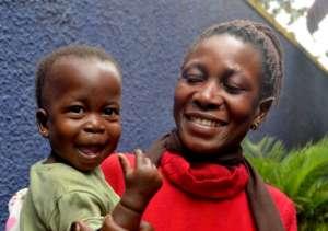 Esther and Sharidah at their check-up at AMS.