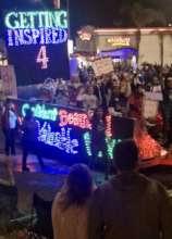 Belmont Shore Christmas Parade - 4GIRLS Float