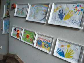 Children's drawings exhibition at school