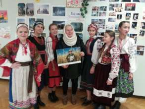 Lesya's exhibition in the Clinical hospital