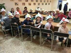 Origami workshop for refugee children