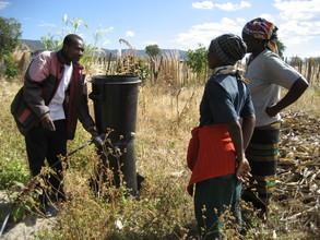 ASAP Field Officer teaches of installation of Drip Irrigation