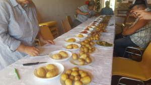 Potato Tasting in the Eco-Training Center