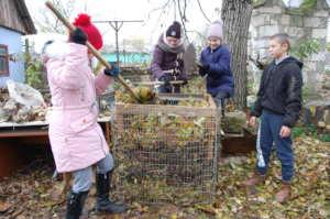 Making compost for future fertilization