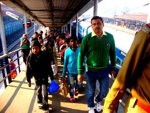 Rescued Children arriving at Station