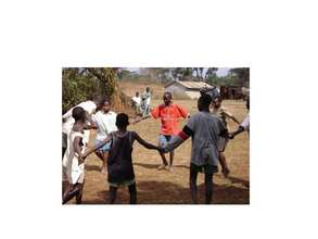 Children engage in a team building exercise