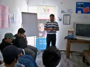 Vocational workshops are provided to young men