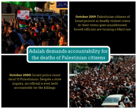 Adalah's meme linking October 2000 to October 2019