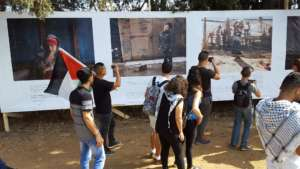 Young Palestinians at the March of Return, 2 May