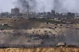 Protestors at Gaza's Great March of Return