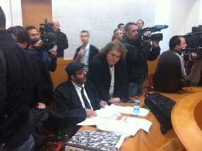Adalah's Hassan Jabareen in court
