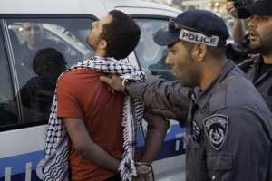 Arrest of protestor for hunger-striking prisoners