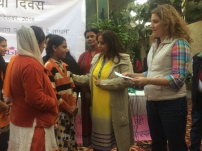 Girls receiving final check