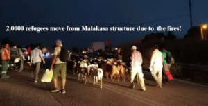 2.0000 refugees move from Malakasa due to fires!