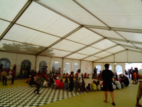 ATHENS GREECE-OUR ENGLISH LESSON IN SYRIANS' CAMP