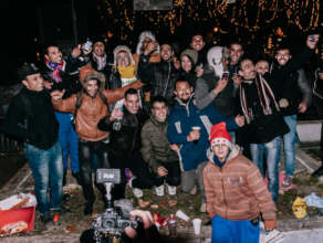 New Year's evening Kid & Family with all refugees