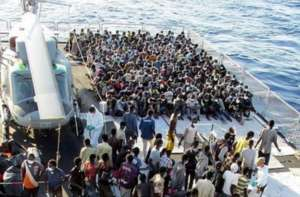 The routine arrival of a boatload of Refugees