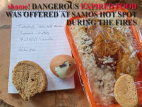 shame! DANGEROUS EXPIRED FOOD WAS OFFERED AT SAMOS