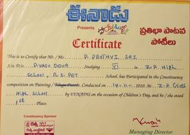 Certificate For Painting Competition