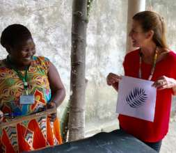 Betsy (right) visiting The Mabinti Centre