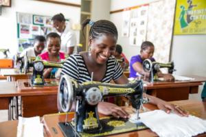 Ladies training at Mabinti Centre, by Sala Lewis