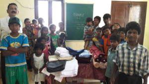 Distributing school uniform cloth materials