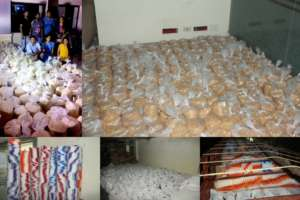 packing > loading at the Bhumi Relief Centre