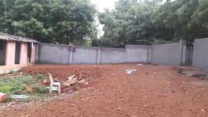 Construction of wall completed and area cleaned