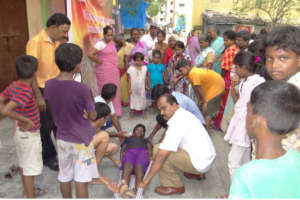 PREPARE 10000 SLUM PEOPLE FACE DISASTER IN CHENNAI