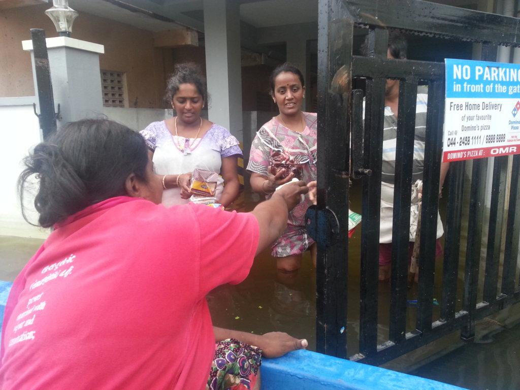 Basic clothing  for Chennai flood victims