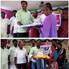 Relief goods for flood affected families