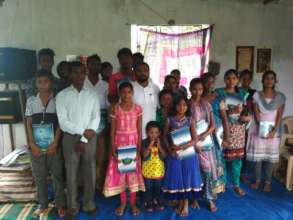 Distribution of note books on September 2017