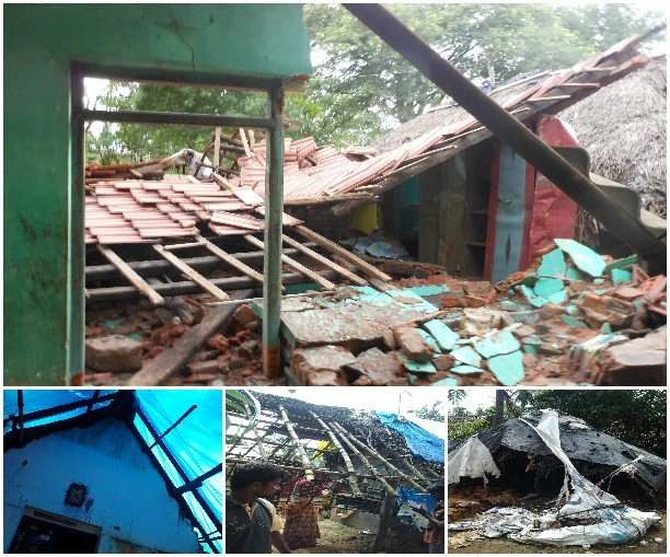 Flood Relief: Rebuild homes-Cuddalore-Vilupuram