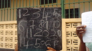 Numeracy classes in Kenema