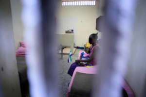 Mother and baby in Correctional Centre